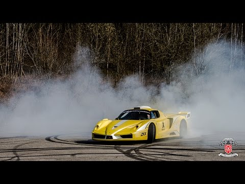 Ferrari Enzo ZXX by Edo Competition is going mad! Drifts, burnouts, start-up and loud accelerations