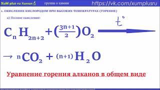 1.4  АЛКАНЫ. химические свойства