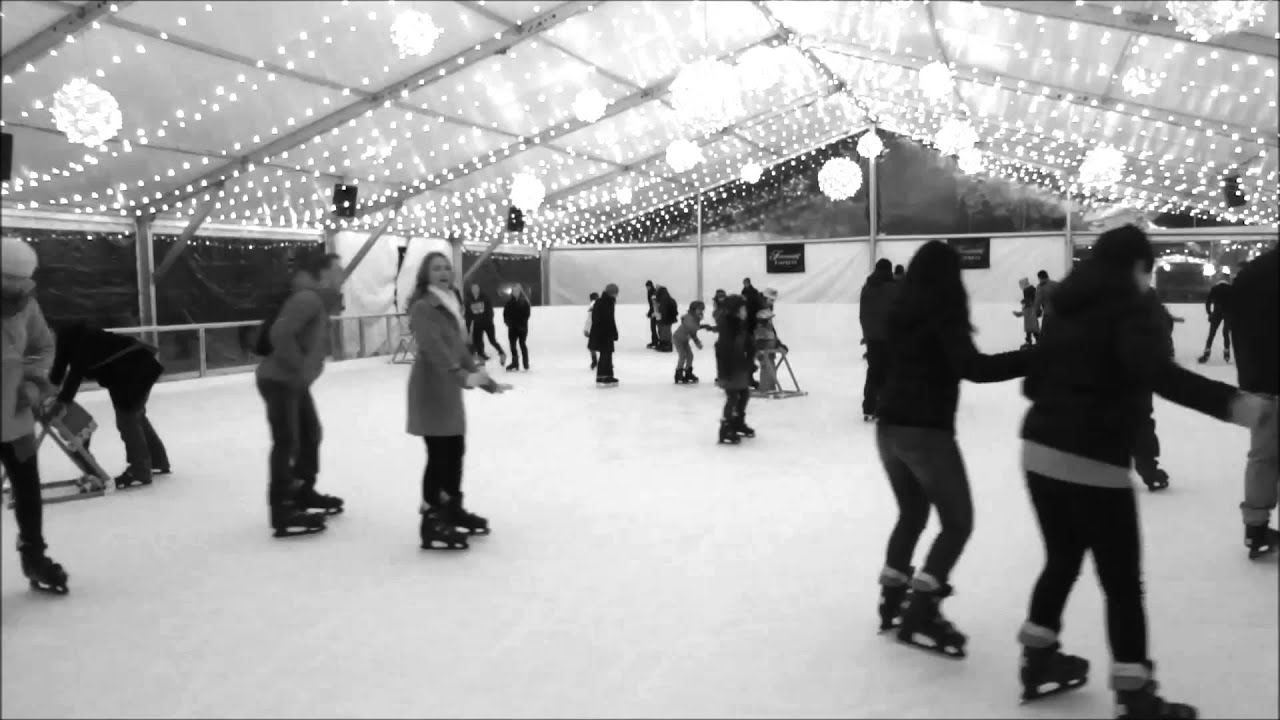 outdoor ice skating rink at the empress hotel youtube