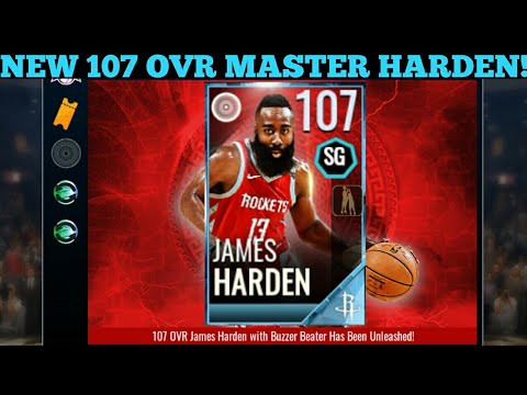 31d5f0644505 NEW 107 OVR JAMES HARDEN!!! BUZZER BEATER!!! NBA LIVE MOBILE 18 ...