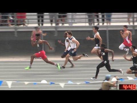 2017 TF - CIF-ss Prelims (D1) - 100 Meters (Boys, 4 Heats) (20-D1)