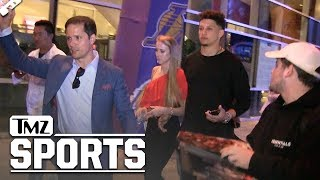 Patrick Mahomes Courtside for Lakers Win, Gets Shout Out From LeBron! | TMZ Sports
