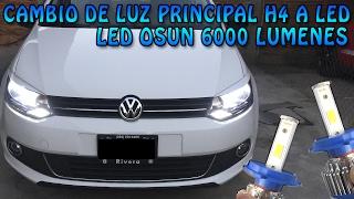 Instalar Luz LED en faros principales H4 OSUN - VW Vento/Polo | #LivanderVW Video