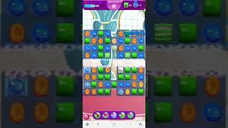 1108 Candy Crush Saga Level 1108 new version / 캔디크러쉬사가 뉴버전 레벨 1108 / 초록색, 파란색 캔디 500개씩 모으기 미션 screenshot 4