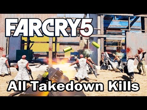 Far Cry 5 - All Takedown Kills (Every Sidearms & Melee weapons)