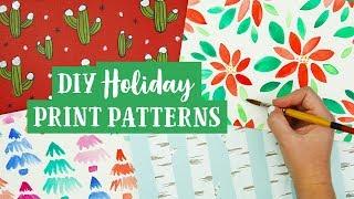 DIY Holiday Print Patterns 🎁 Gift Wrap Ideas | Sea Lemon thumbnail