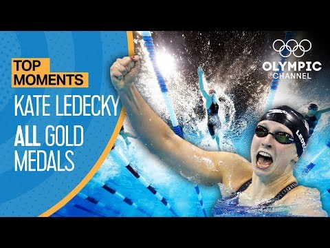 Katie Ledecky  - ALL Gold Medal Races |Top Moments