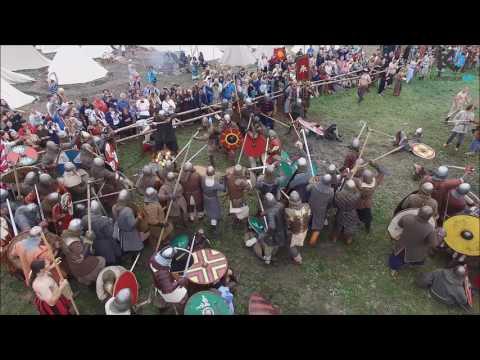 Bitwa Wojów - Wolin 2016 / dron/ Viking's Fight Wolin - dron