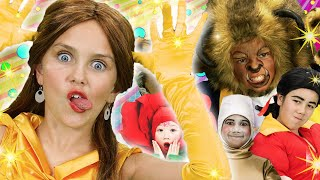 Beauty and the Beast Finger Family REMIX | FunPop!