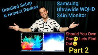 "Samsung Ultrawide WQHD Monitor 34"" SJ55W Review&Setup Freesync Fortnite DeX & More Part2"