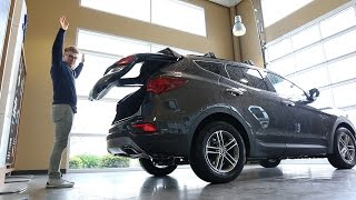 2017 Hyundai Santa Fe Sport Hands Free Smart Liftgate 360 Degree Multi View Camera System смотреть