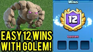 Clash Royale - Best Grand Challenge Deck Using Golem | Best Golem Deck