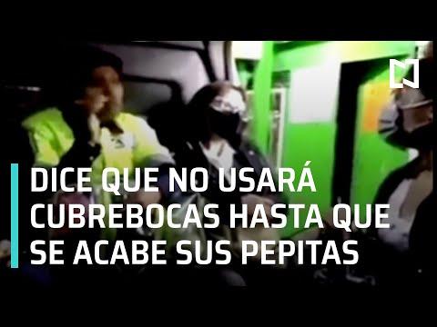 Lady Pepitas | Pasajera se niega a usar cubrebocas en combi del Estado de México -  Las Noticias