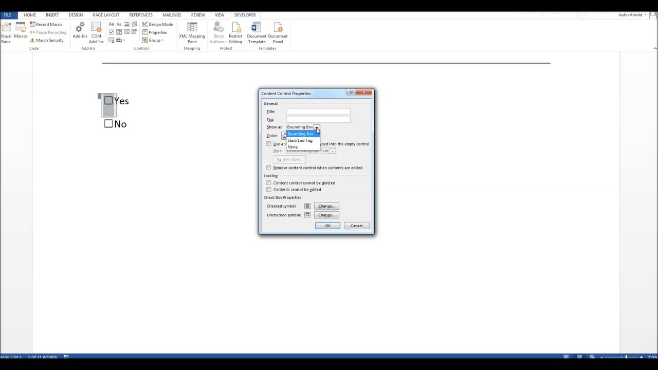 How To Insert Tick Boxes Into Microsoft Word Documents Youtube