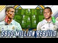 $800 MILLION REAL MADRID REBUILD WHOLE TEAM CHALLENGE - FIFA 18 CAREER MODE