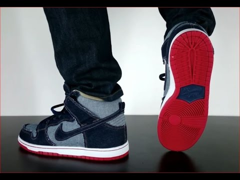 NIKE SB DUNK HIGH TRD QS midnight navy white - YouTube 87353dd1a182