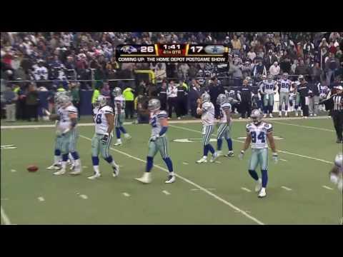 Tony Romo to Jason Witten TD Vs Baltimore 08 W/Brad, Babe & Kristie