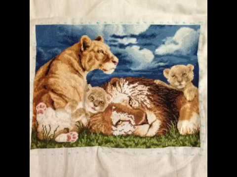 Набор вышивки львята