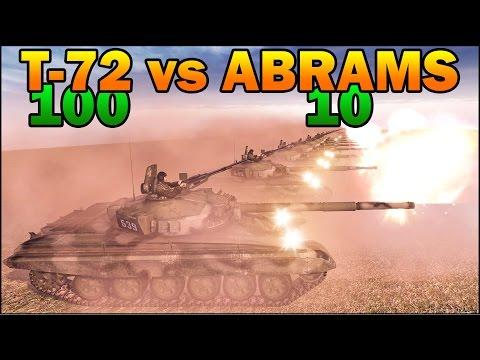 100 T-72A vs 10 M1A2 ABRAMS - COLD WAR TANK vs MODERN TANK - Call to Arms - Scenario #5
