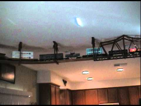 O Scale Ceiling Train Living Room Layout Youtube