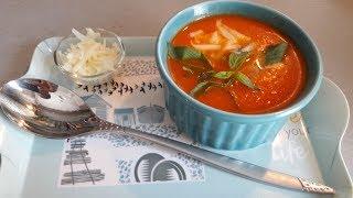 Томатный суп. Турецкий томатный суп. Domates  çorbası