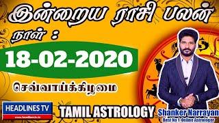 18 02 2020 | இன்றைய ராசிபலன் 18-2-2020 | Today rasi palan 18:2:2020/ Daily rasi Palan Friday 18/2/20