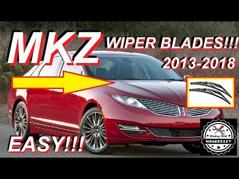 How To Replace The Wiper Blades On A Lincoln MKZ 2013-2018 Change, Replace & Install Black Label