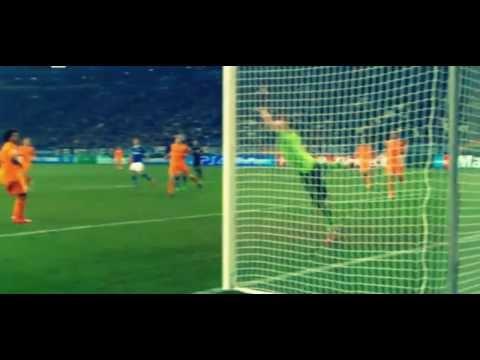 Klaas Jan Huntelaar Amazing Volley - Schalke vs Real Madrid 1:6 - 26.02.2014