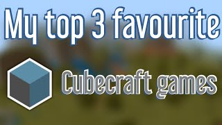 My top 3 FAVOURITE Cubecraft games, games + new intro!