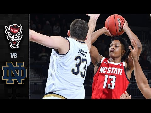 NC State vs. Notre Dame Basketball Highlights (2018-19)