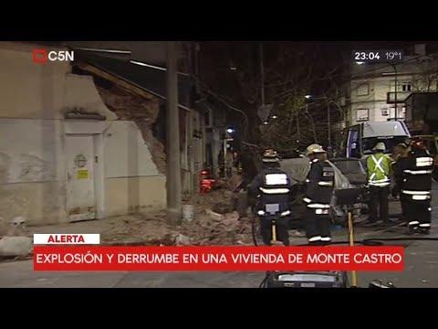 Explosión y derrumbe en una vivienda del barrio porteño de Monte Castro