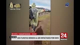 Cusco: dos turistas resultaron heridos al ser alcanzados por un rayo