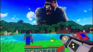 MUNDO DE MINECRAFT PRECISA SER PROTEGIDO DO KING KONG