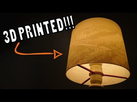 3D Printed Lithophane Lamp Shade - Custom DIY Design