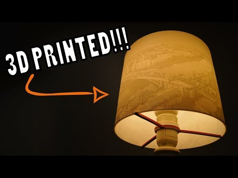 3D Printed Lithophane Lamp Shade - Custom DIY Design