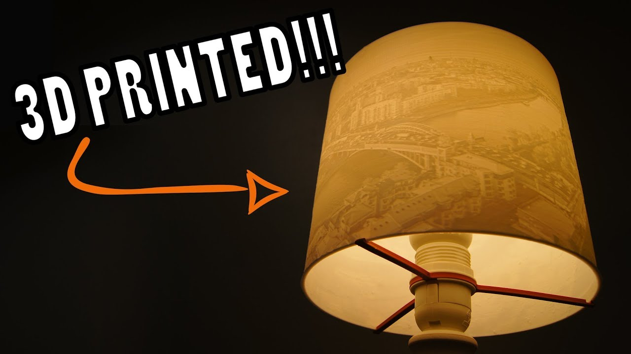 3D Printed Lithophane Lamp Shade