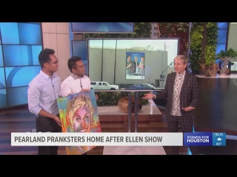 Pearland pranksters home after appearing on 'Ellen'