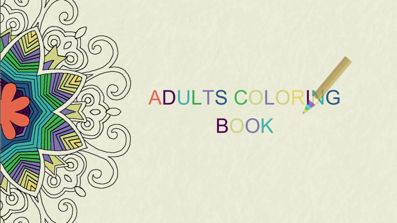 Adults Coloring Book Free Android App Youtube