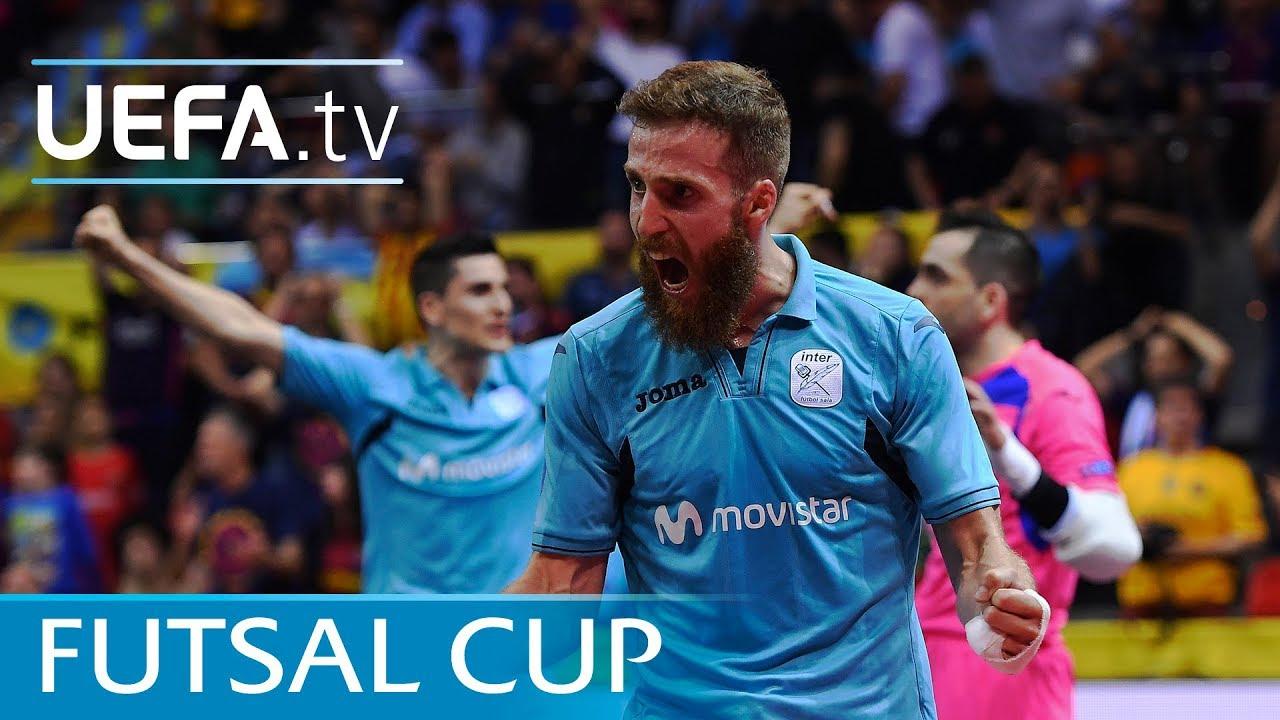 Download Futsal Cup highlights: Inter v Barcelona