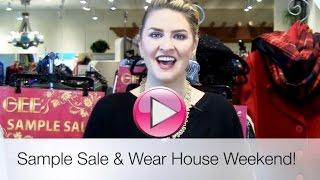 SAMPLE SALE & Wear House Weekend!