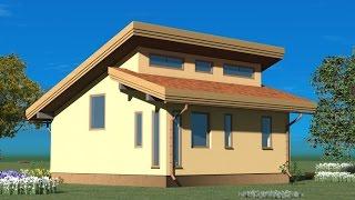 одноэтажный дом для семьи из двух человек