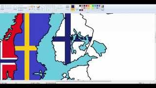 Europe-drawing Nordic countries flags #2