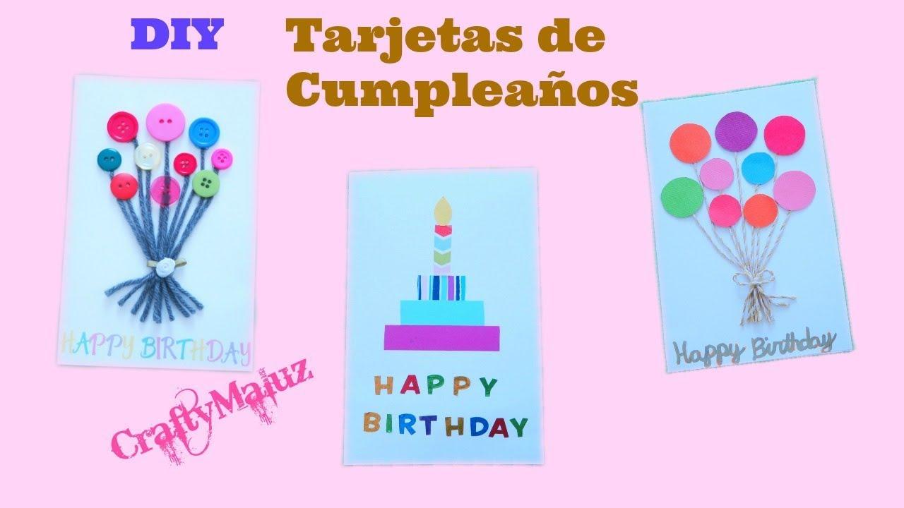 u2665COMO HACER TARJETAS DE CUMPLEA u00d1OS DIY Birthday Cards YouTube