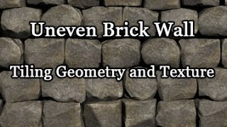Game Assets - Uneven Brick Wall (Geometry and Texture)