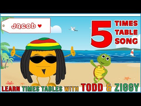 5 Times Table Song (Learning is Fun The Todd & Ziggy Way!)