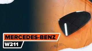 Reemplazar Cable de accionamiento freno de estacionamiento MERCEDES-BENZ E-CLASS: manual de taller