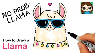 How to Draw a Llama  Cute Pun Art #11