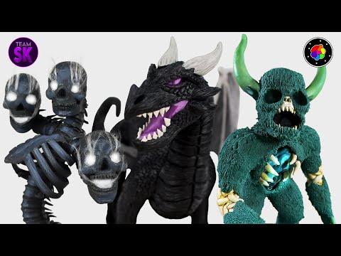 CREANDO los JEFES de MINECRAFT REALISTA (Warden, Wither y Dragón del End)  TEAM SCULKER  PlastiVerse