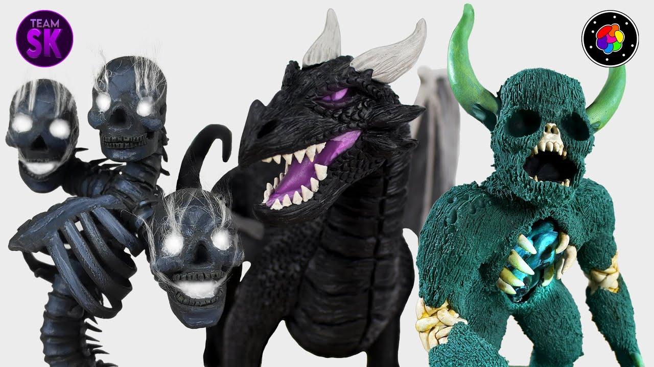 CREANDO los JEFES de MINECRAFT REALISTA (Warden, Wither y Dragón del End) |TEAM SCULKER| PlastiVerse