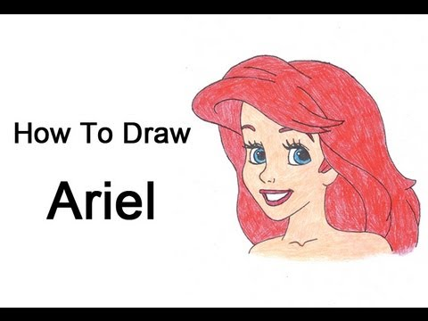 How To Draw Ariel The Little Mermaid Youtube
